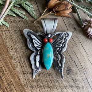 Beautiful Native American turquoise butterfly 🦋